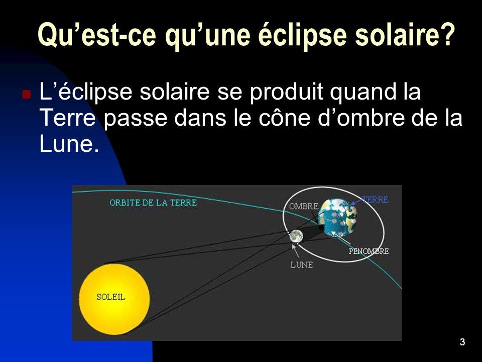Qu'est-ce qu'une éclipse solaire
