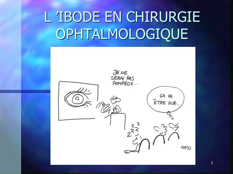L 'IBODE EN CHIRURGIE OPHTALMOLOGIQUE