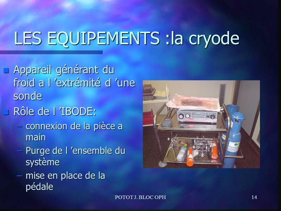 LES EQUIPEMENTS :la cryode
