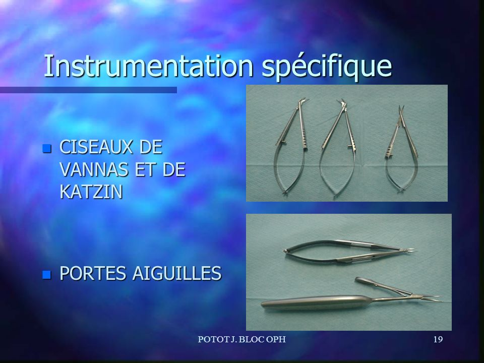 Instrumentation spécifique