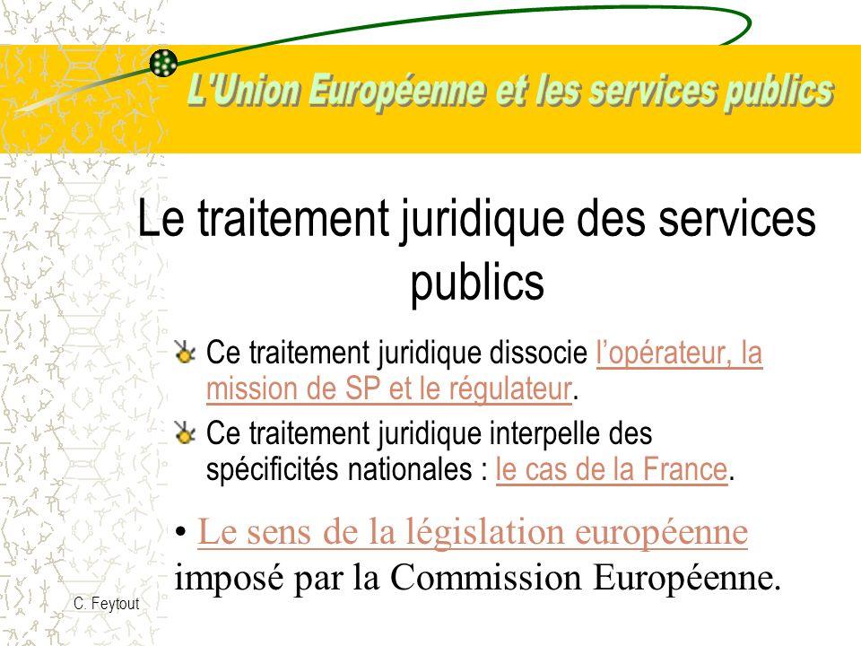 Le traitement juridique des services publics