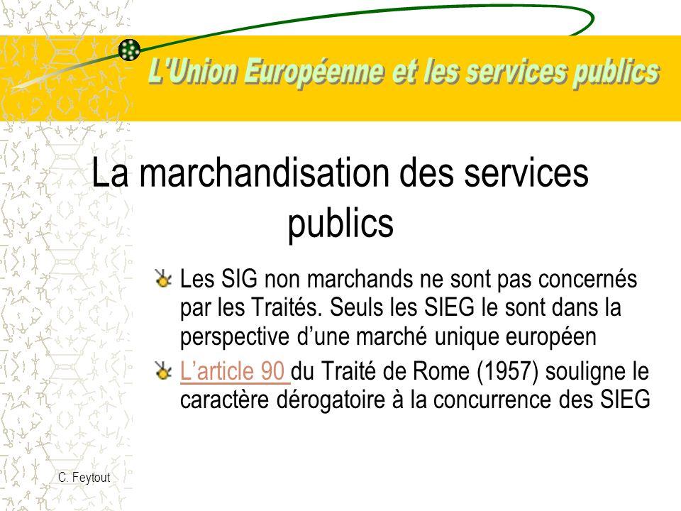 La marchandisation des services publics