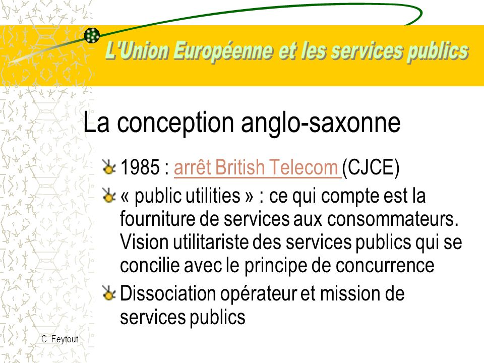 La conception anglo-saxonne