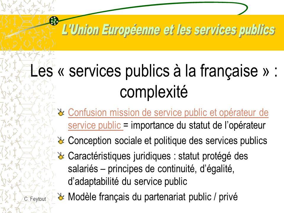 Les « services publics à la française » : complexité