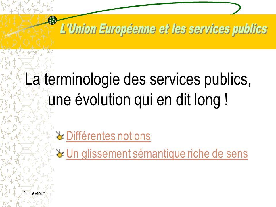 La terminologie des services publics, une évolution qui en dit long !