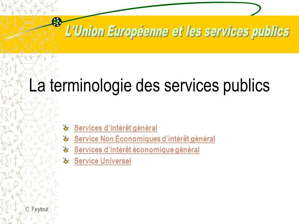 La terminologie des services publics