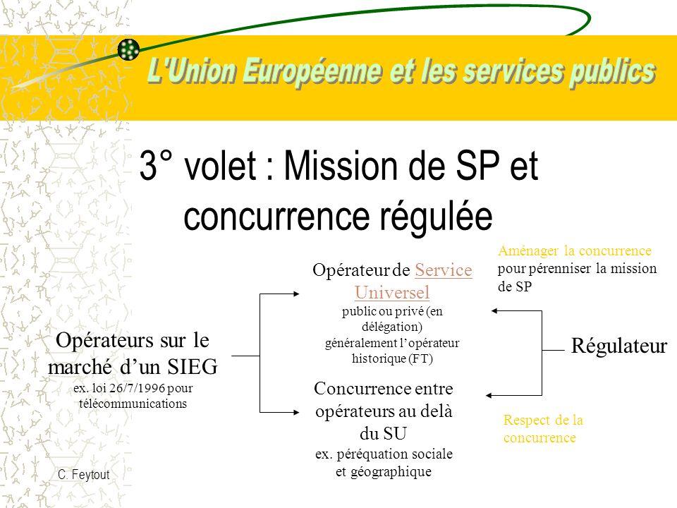 3° volet : Mission de SP et concurrence régulée