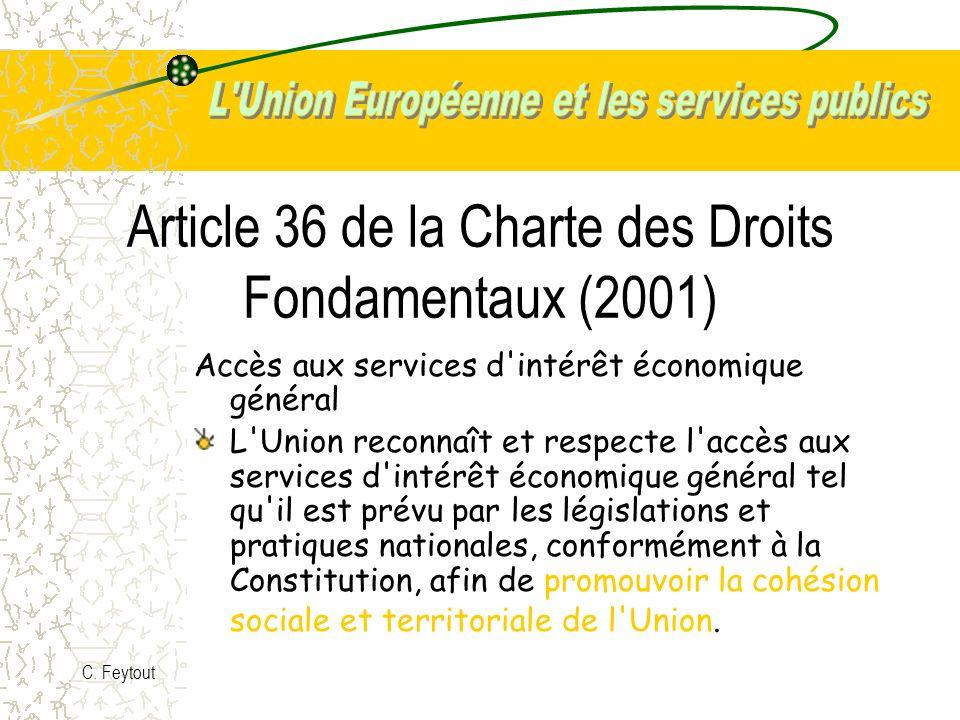 Article 36 de la Charte des Droits Fondamentaux (2001)