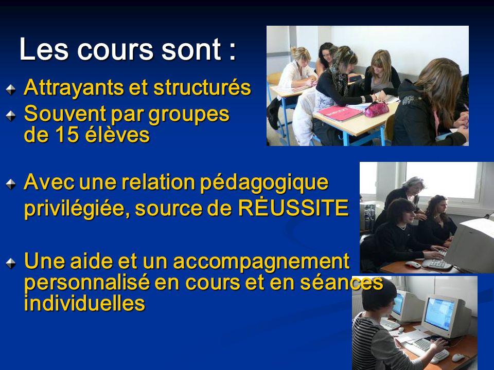Les cours sont : Attrayants et structurés