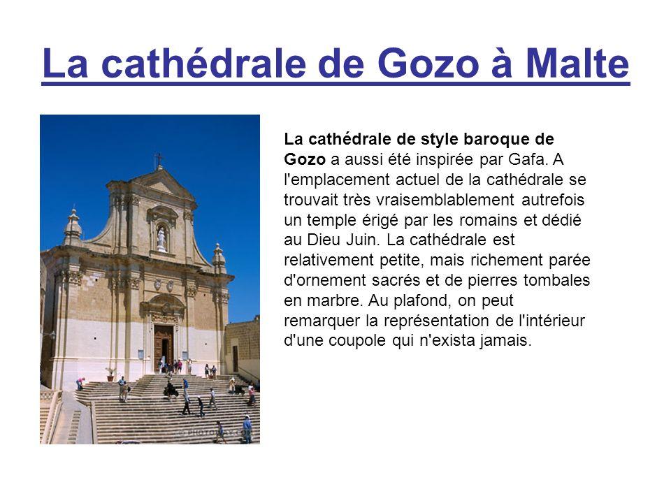 La cathédrale de Gozo à Malte