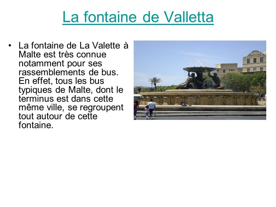 La fontaine de Valletta