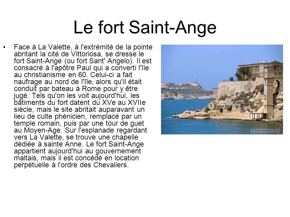 Le fort Saint-Ange
