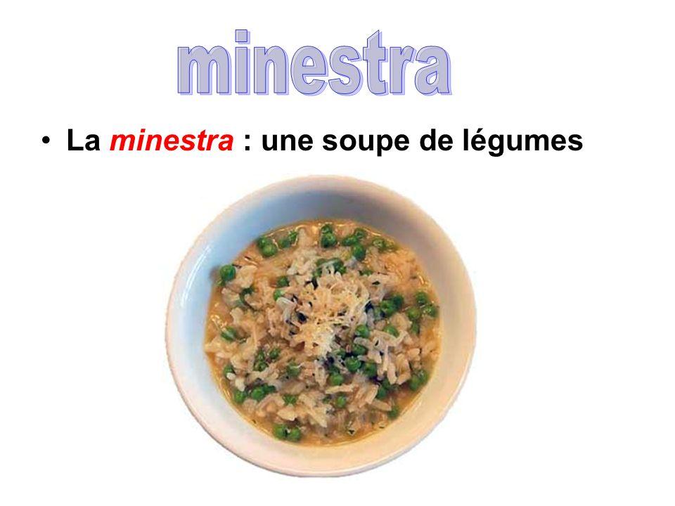 minestra La minestra : une soupe de légumes