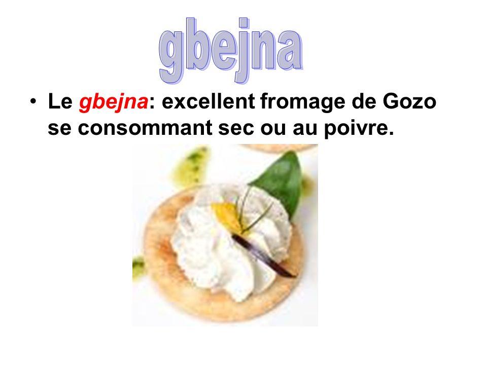 gbejna Le gbejna: excellent fromage de Gozo se consommant sec ou au poivre.