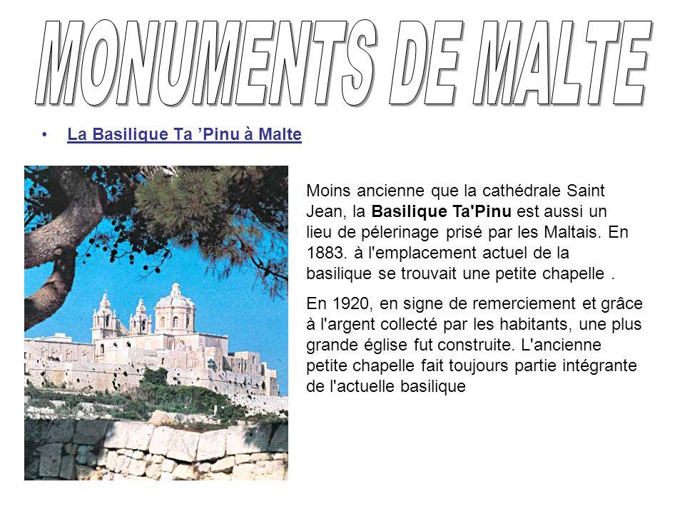 MONUMENTS DE MALTE La Basilique Ta 'Pinu à Malte