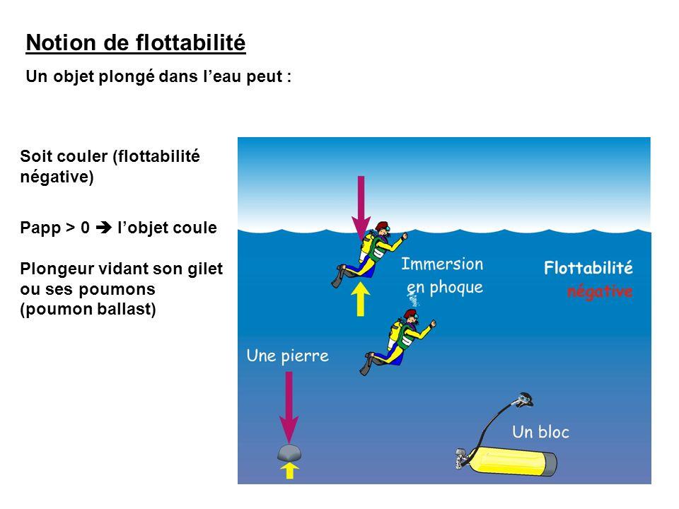 Notion de flottabilité