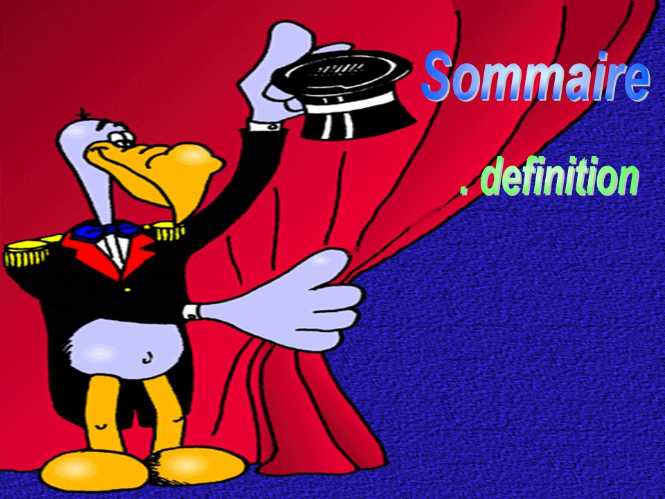 Sommaire . definition