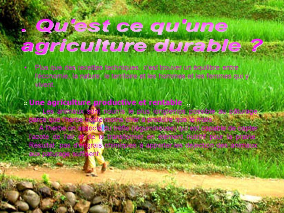 . Qu est ce qu une agriculture durable