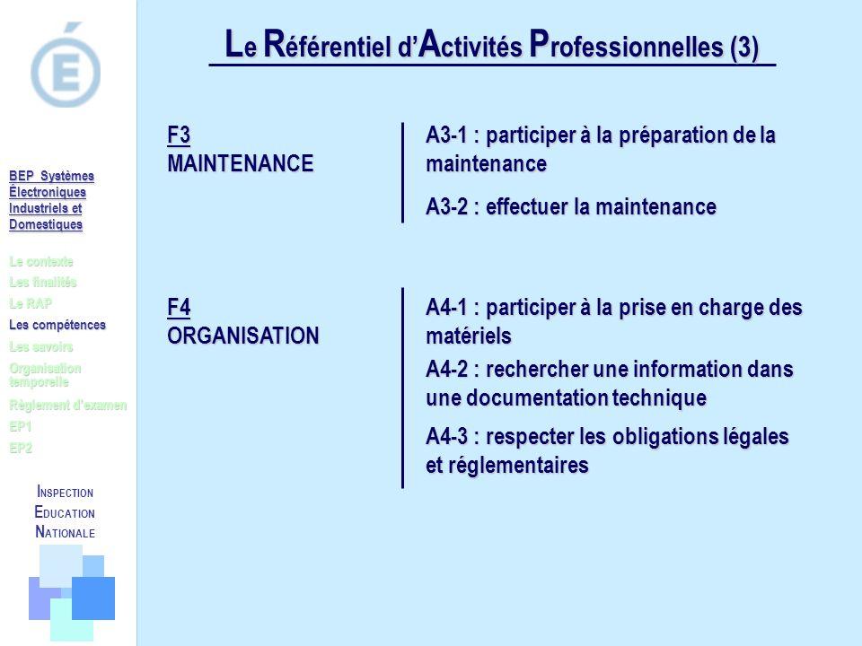Le Référentiel d'Activités Professionnelles (3)