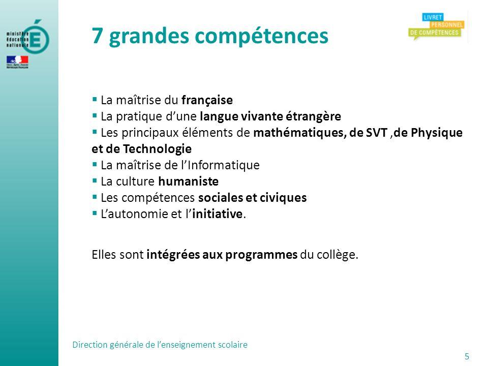 7 grandes compétences La maîtrise du française