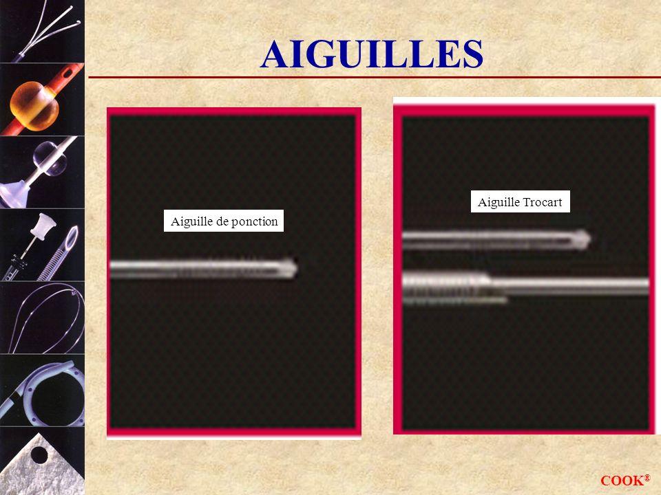 AIGUILLES Aiguille Trocart Aiguille de ponction COOK®