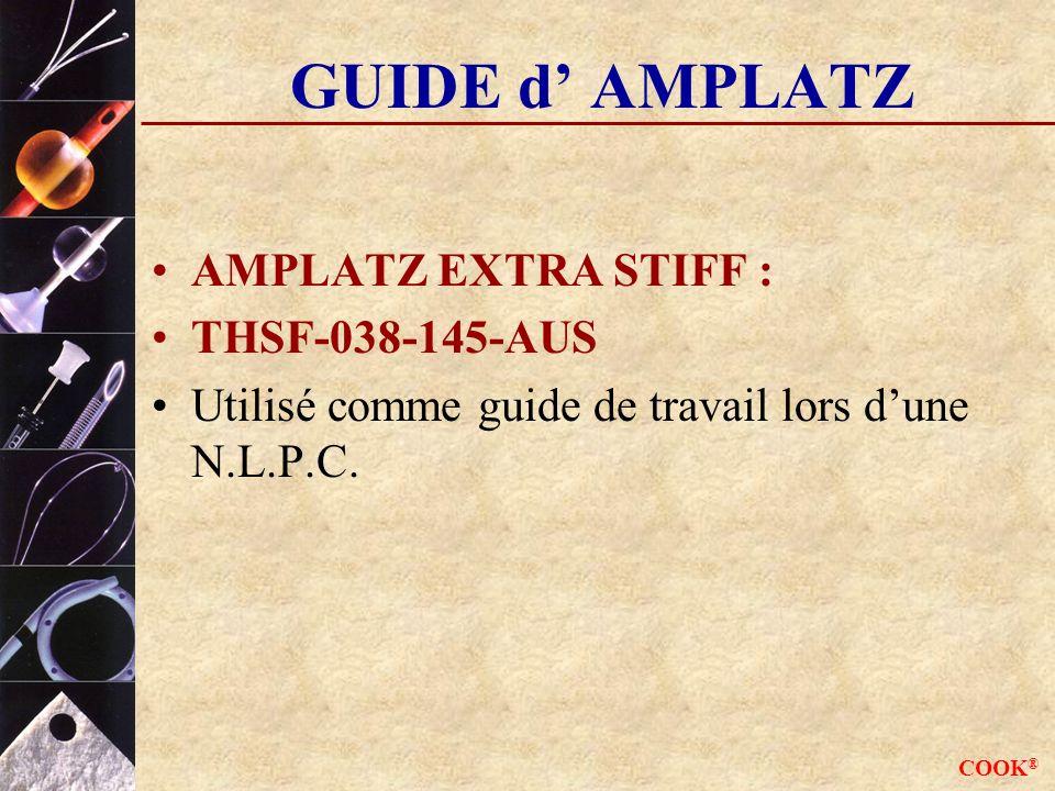 GUIDE d' AMPLATZ AMPLATZ EXTRA STIFF : THSF-038-145-AUS