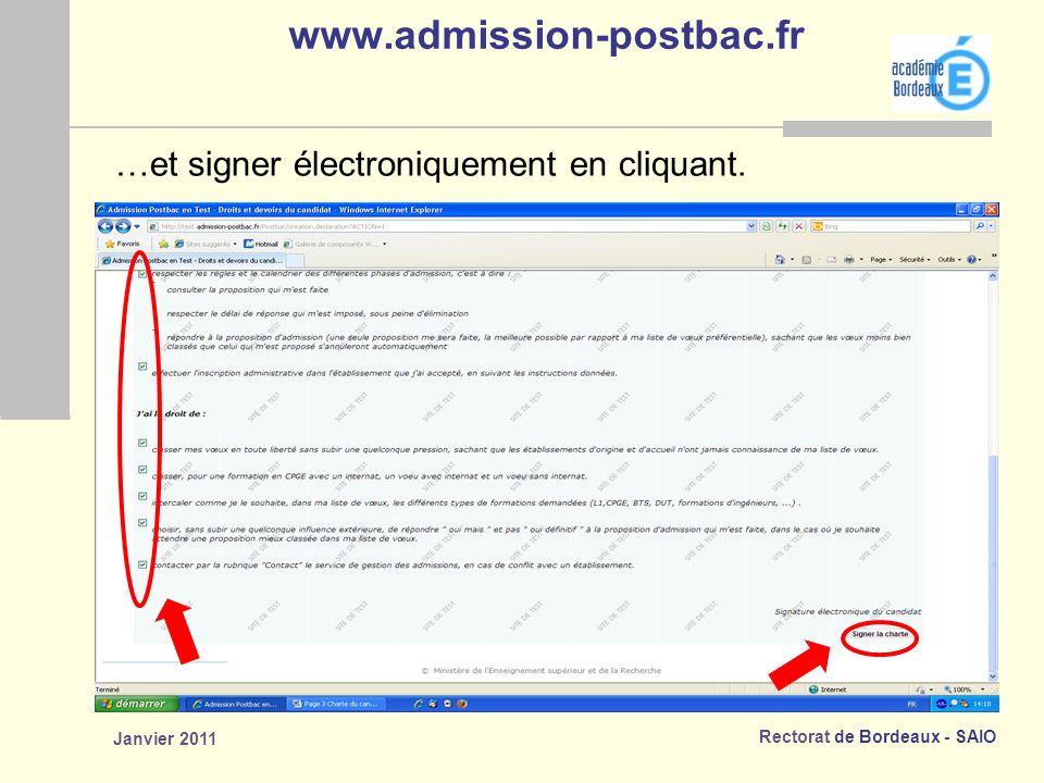 www.admission-postbac.fr …et signer électroniquement en cliquant.