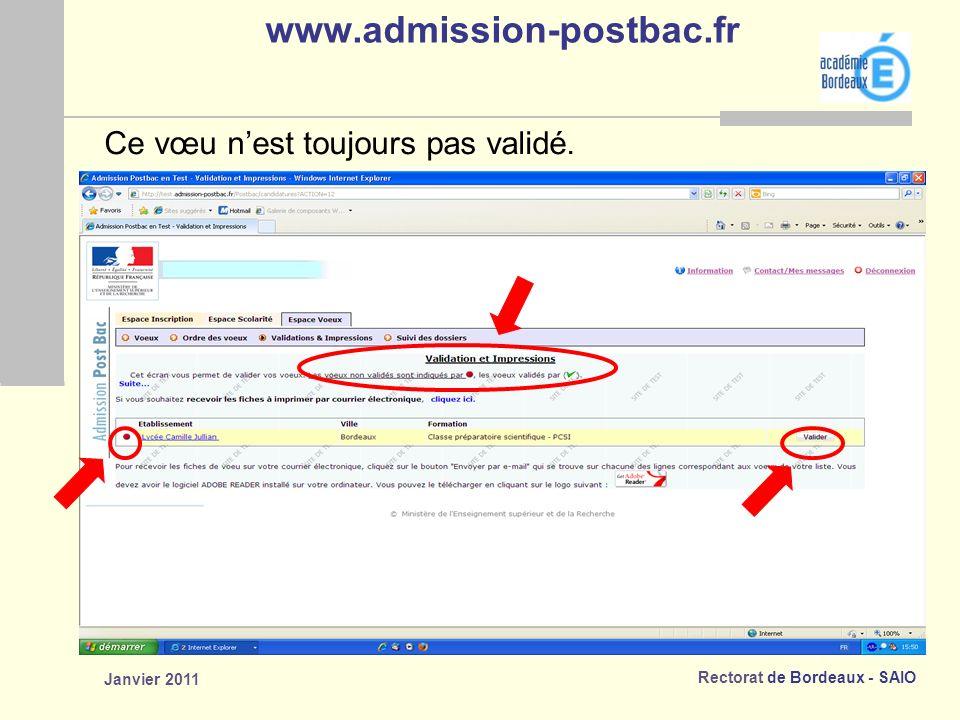 www.admission-postbac.fr Ce vœu n'est toujours pas validé.
