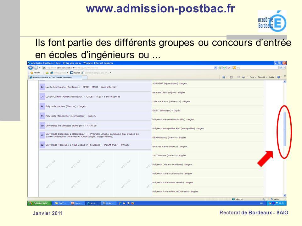 www.admission-postbac.fr Ils font partie des différents groupes ou concours d'entrée. en écoles d'ingénieurs ou ...