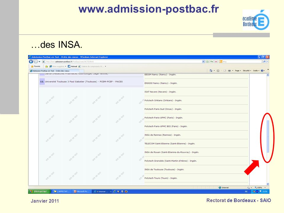 www.admission-postbac.fr …des INSA. Janvier 2011