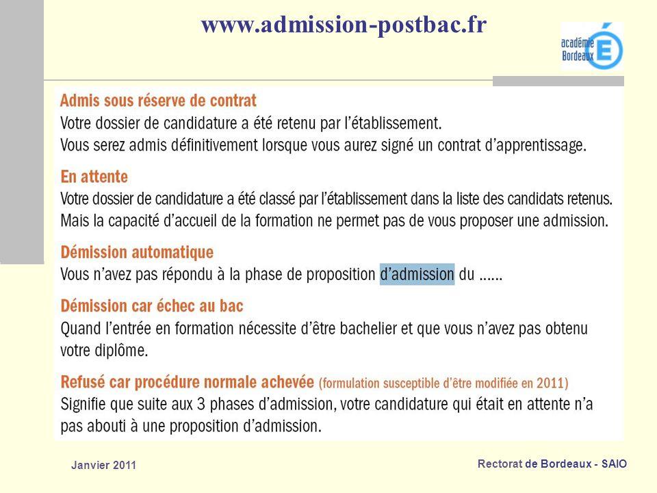 www.admission-postbac.fr Janvier 2011