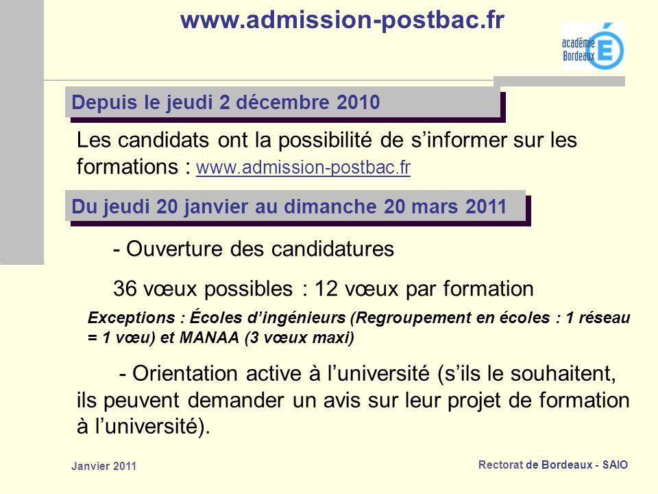 www.admission-postbac.fr Depuis le jeudi 2 décembre 2010.