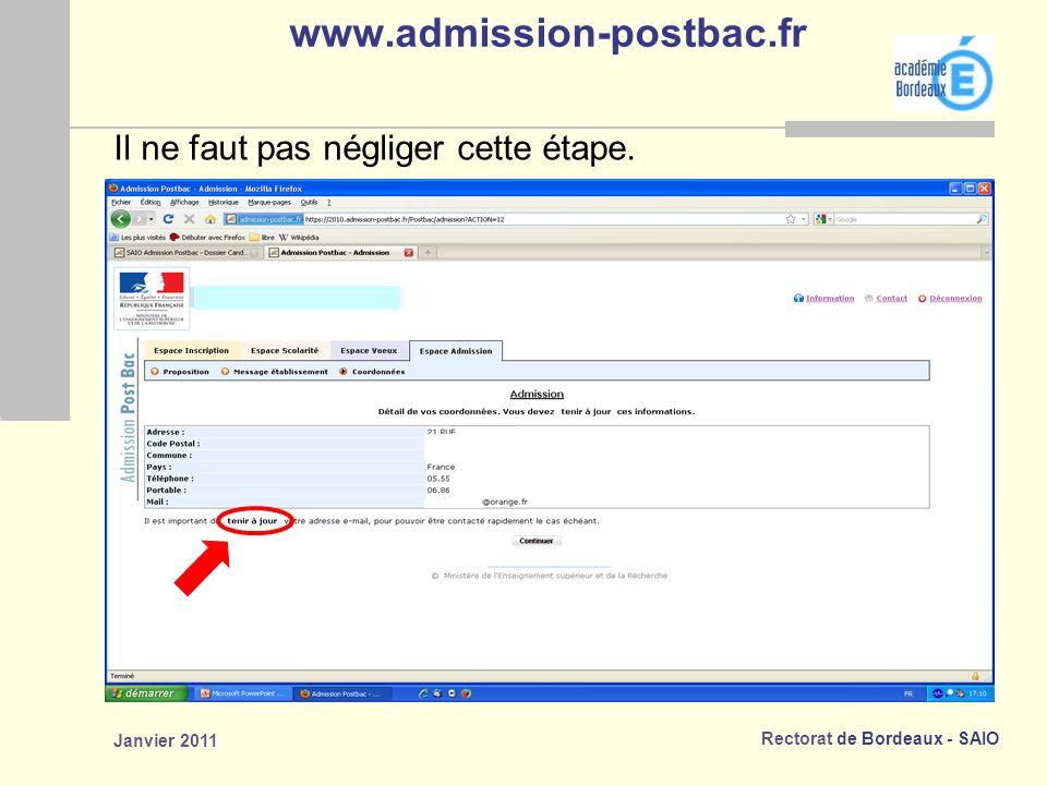 www.admission-postbac.fr Il ne faut pas négliger cette étape.