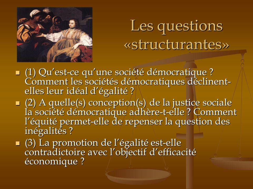 Les questions «structurantes»