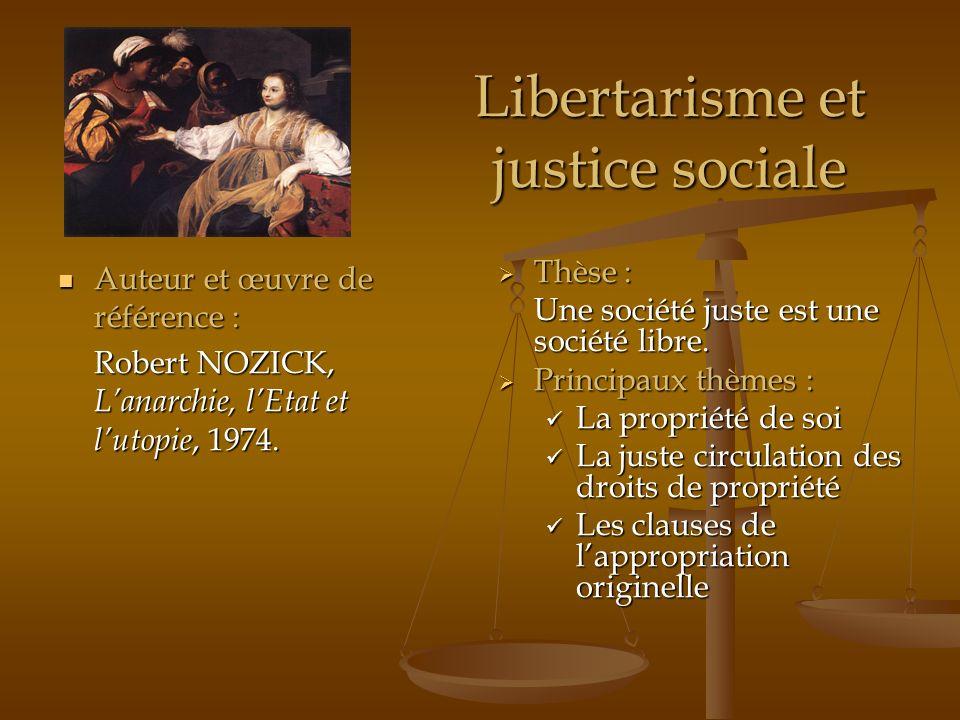 Libertarisme et justice sociale