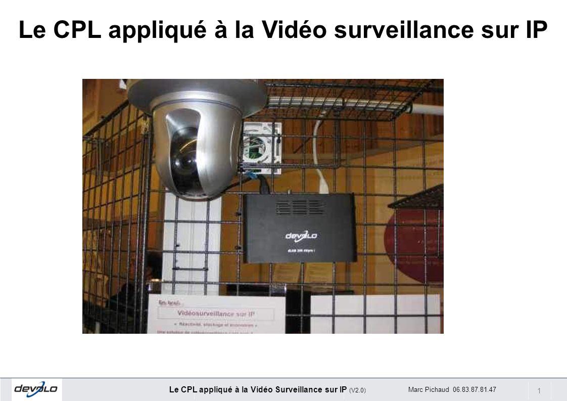 Le CPL appliqué à la Vidéo surveillance sur IP