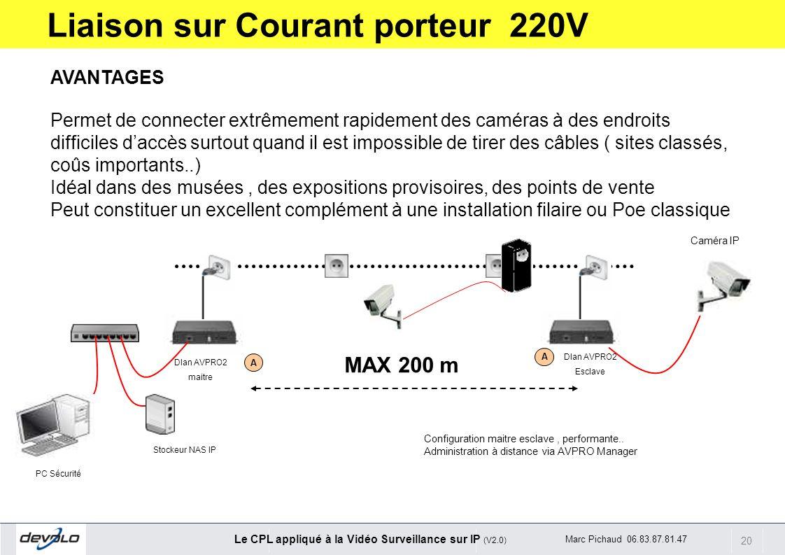 Liaison sur Courant porteur 220V