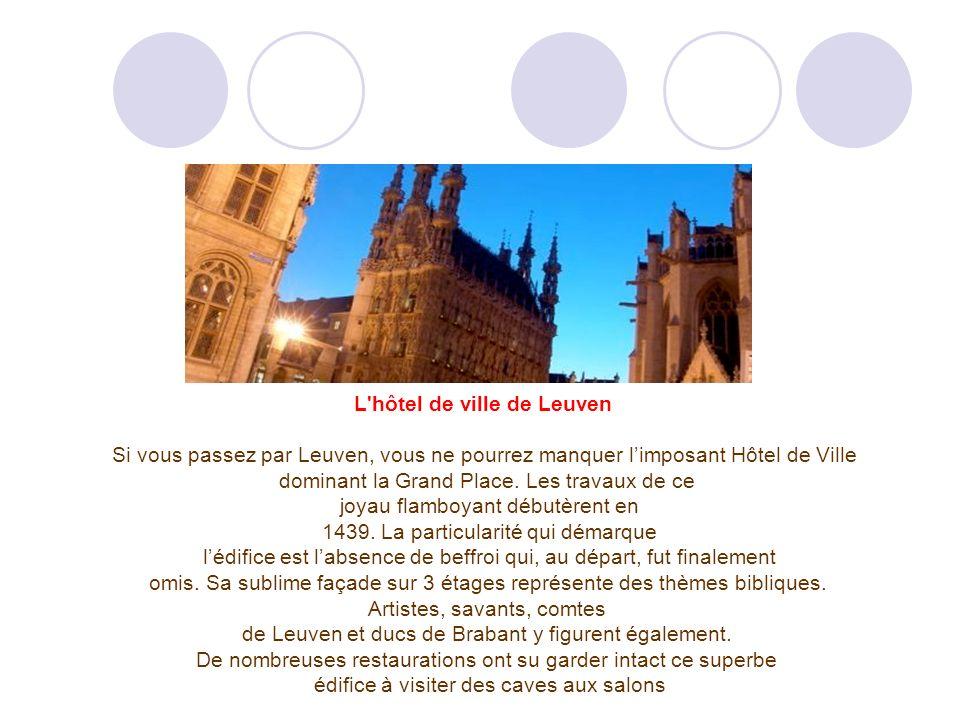 L hôtel de ville de Leuven