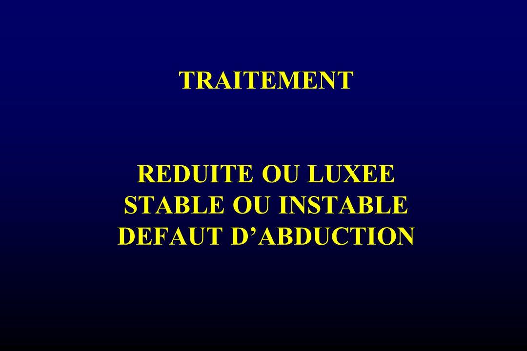 TRAITEMENT REDUITE OU LUXEE STABLE OU INSTABLE DEFAUT D'ABDUCTION