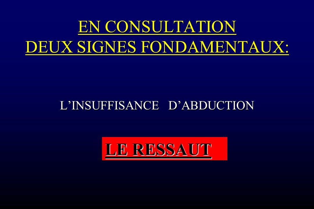 EN CONSULTATION DEUX SIGNES FONDAMENTAUX: