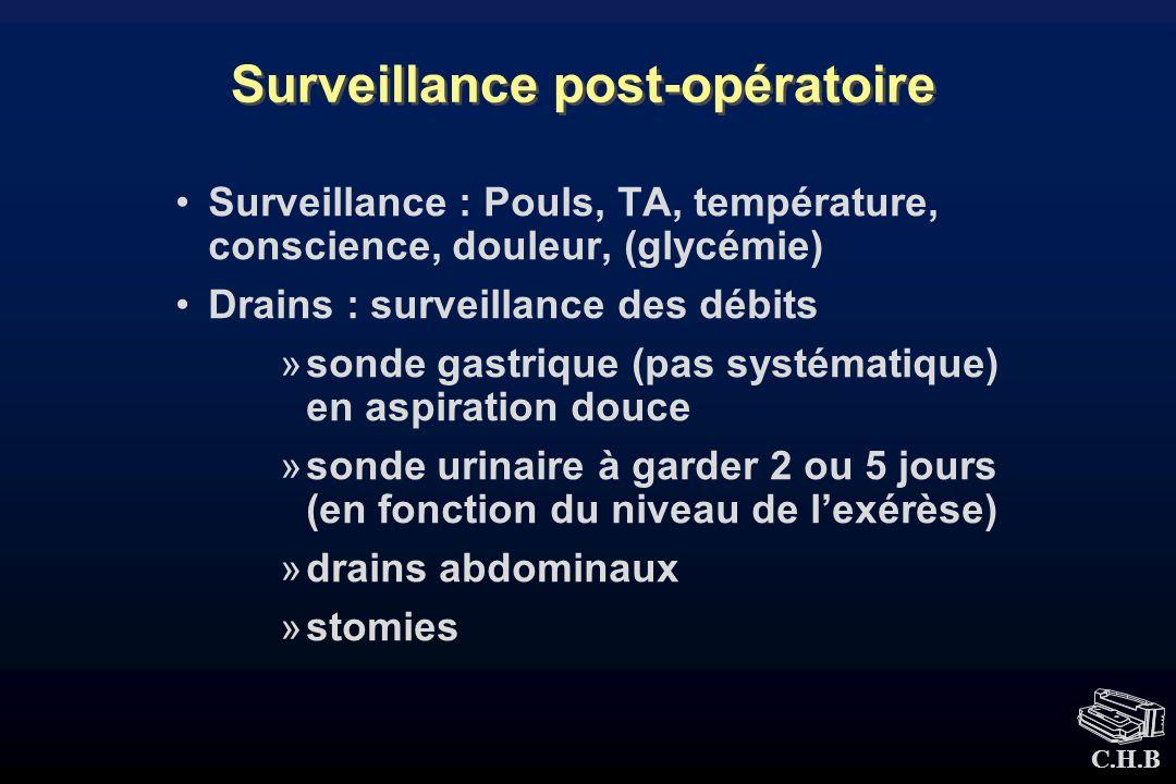 Surveillance post-opératoire