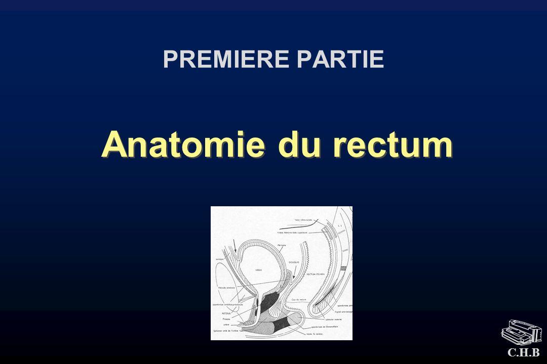 PREMIERE PARTIE Anatomie du rectum