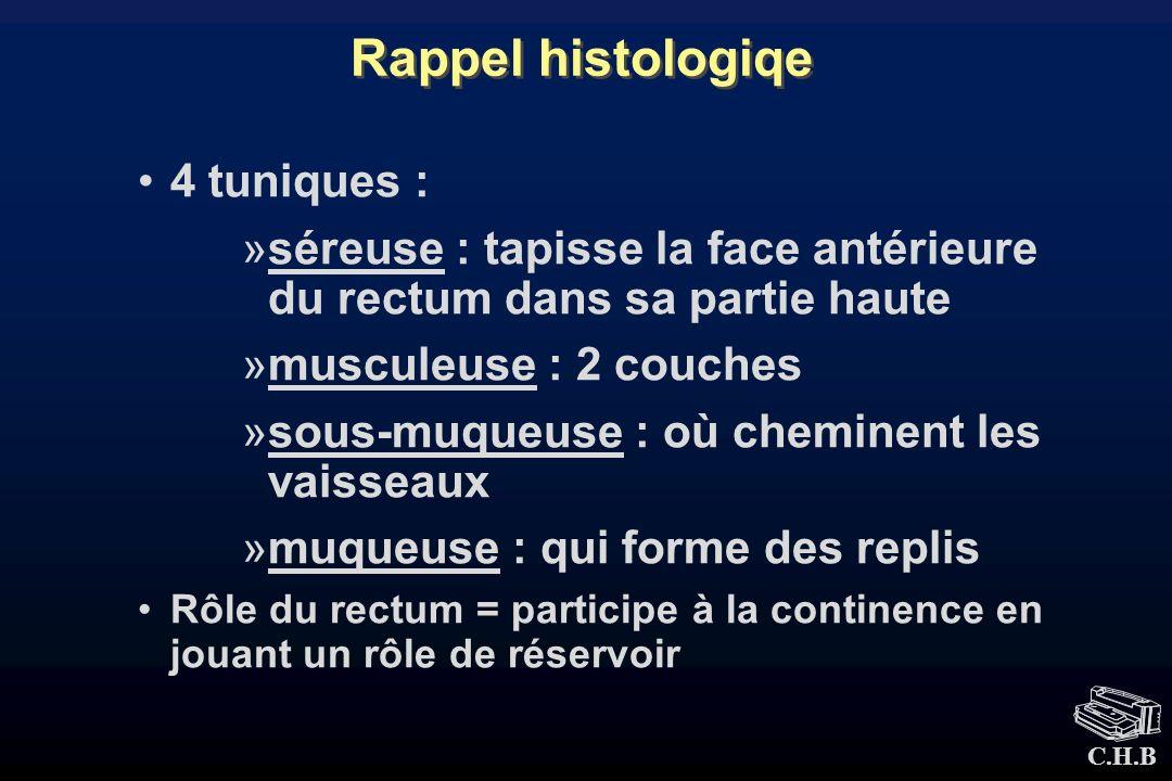 Rappel histologiqe 4 tuniques :