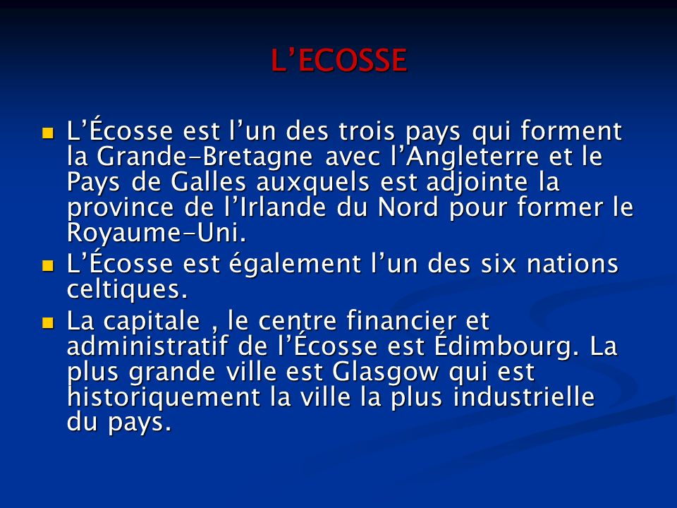 L'ECOSSE