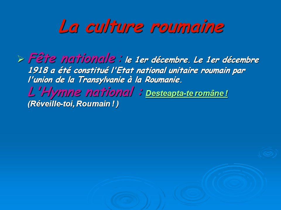La culture roumaine