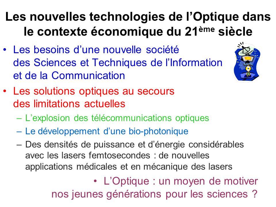 Les nouvelles technologies de l'Optique dans le contexte économique du 21ème siècle