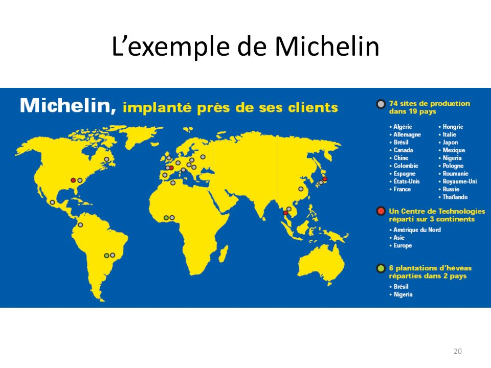 L'exemple de Michelin