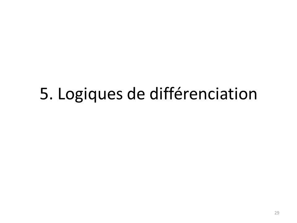 5. Logiques de différenciation