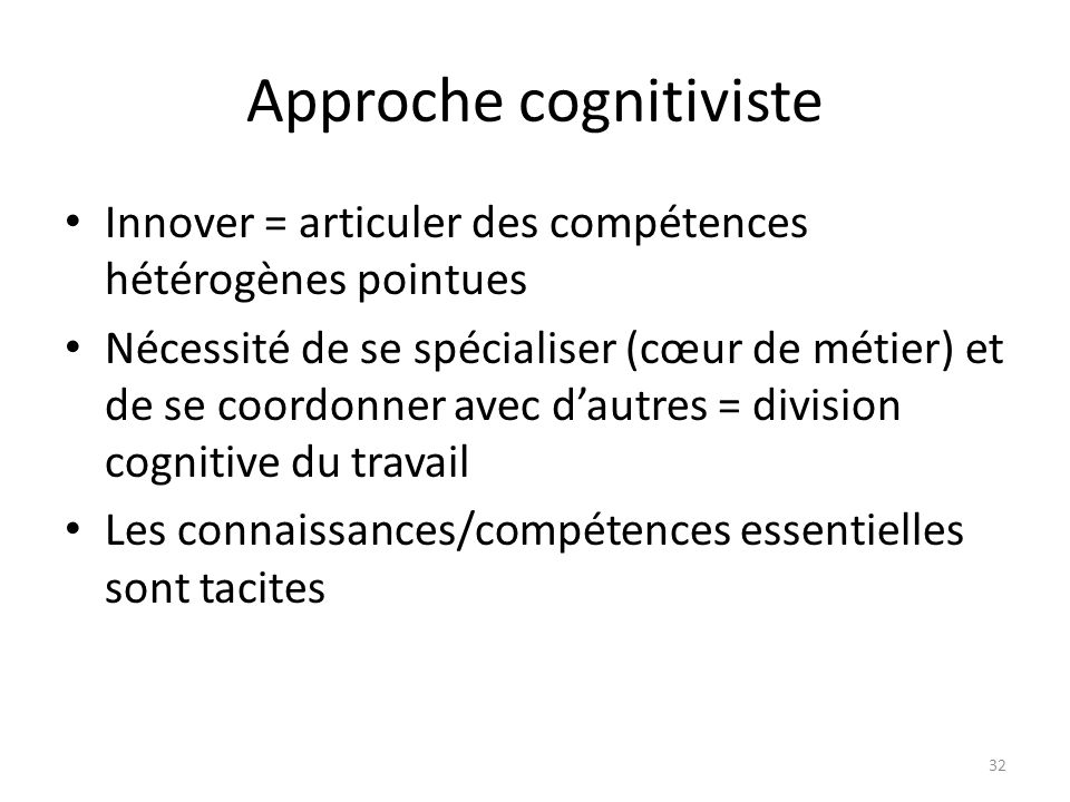 Approche cognitiviste