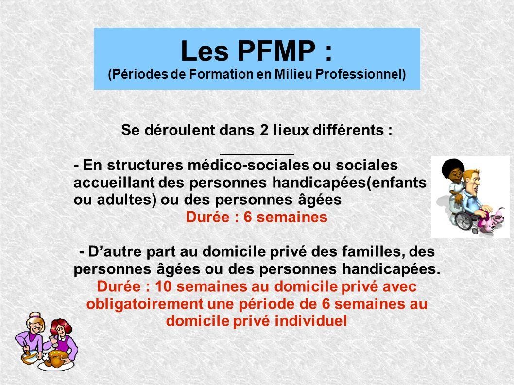 Les PFMP : (Périodes de Formation en Milieu Professionnel)